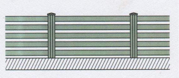 Variantní pohledové provedení plastového plotu-01