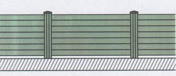 Variantní pohledové provedení plastového plotu-02
