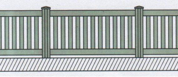 Variantní pohledové provedení plastového plotu-03