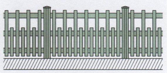 Variantní pohledové provedení plastového plotu-08
